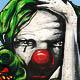 Weeping Clown in Madrid