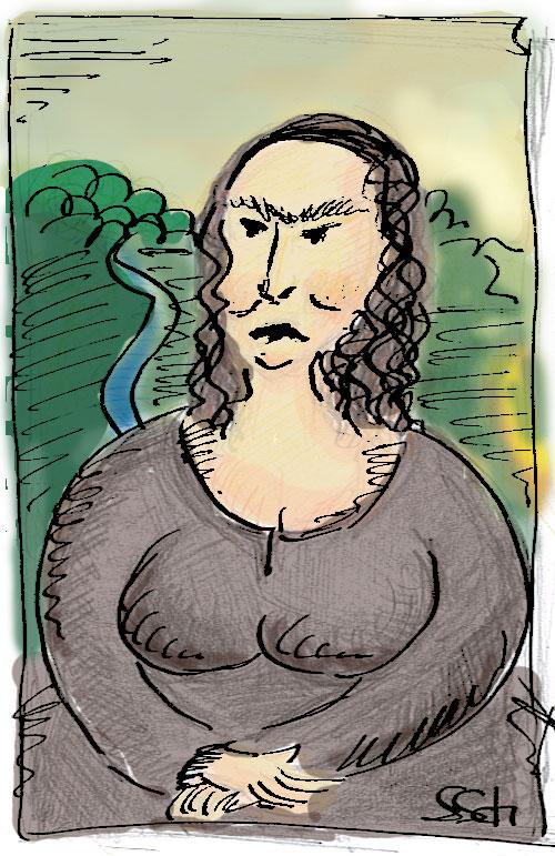 Mona Lisa Karikatur