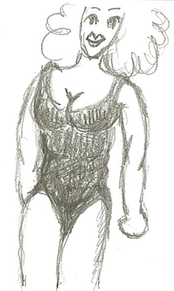 hmmm Frau im Badeanzug …